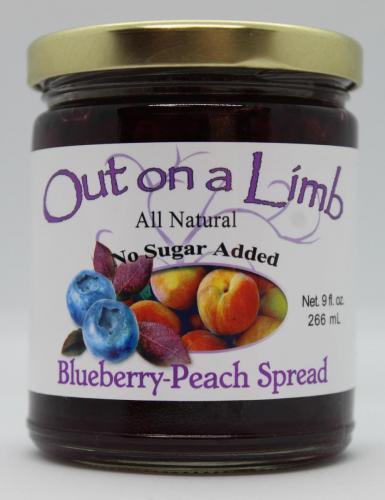 No Sugar Added Blueberry-Peach Spread