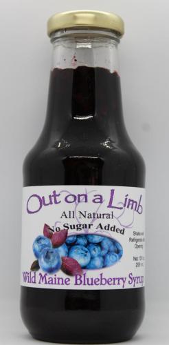 No Sugar Added Wild Maine Blueberry Syrup