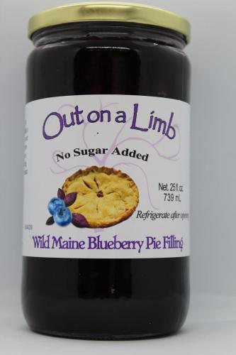 No Sugar Added Wild Maine Blueberry Pie Filling